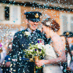 wedding photographer of the year 2016 military confetti