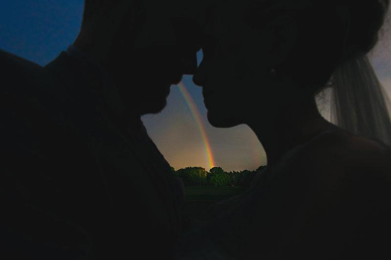 amazing rainbow sihouette photo