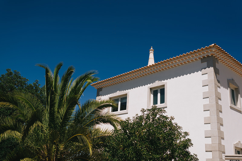 the roof of a portugese villa